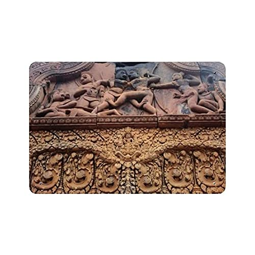 Banteay Srei Siem Reap Nature Painting Vintage Home Decor, Wall Art Sign 11.8 'x7.9' Family Cafe decoración de la pared, Retro Art Painting Iron Plate Poster Decoración de la pared