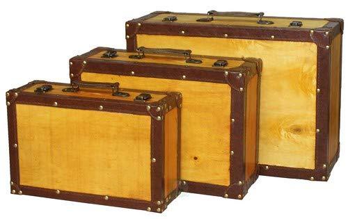 Vintiquewise (TM Old Vintage Maleta Decorativo/baúl, Juego de 3