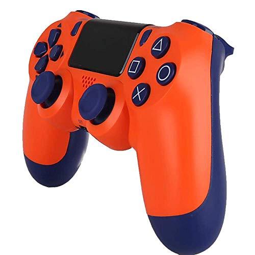 PS4-Controller PS4 / PC-Gamecontroller Vibrationsstreifenlicht Bluetooth Wireless Controller (Sunset orange)