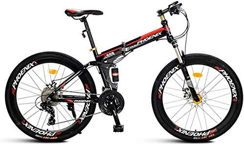 Fantastic Deal! Xiaochongshan Mountain Bike 21/27 Speed Steel Frame 26 Inches Spoke Wheels Suspensio...