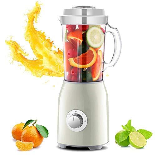 Licuadora eléctrica Premium, exprimidor de Frutas y Verduras, con 2 Cuchillas y 3 Tazas para triturar Hielo, Hacer Batidos, Batidos de proteínas y más, Baibao Morado (Color: Morado)