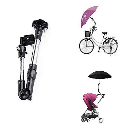 BEAUTOP Parapluhouder voor wandelaars, 360 graden verstelbaar, voor fiets/rolstoel/kinderwagen/vissen/golftrolley A - Bendable