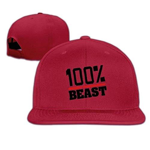 Lightweight 100% Beast Flat Bill Trucker Hats Outdoor Baseball Cap
