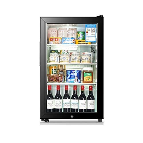 SYLOZ Bebida Refrigerador con Bloqueo de Bloqueo Frigorífico Frigorífico Barra de vino Gabinete de vino Foster y Cerveza Soda refrigerador Frigorífico Claro Puerta de vidrio, 71L Capacidad 4 Pisos, Ne