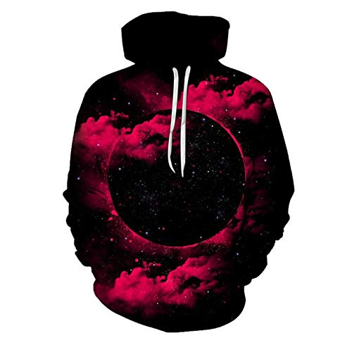 Mr.BaoLong&Miss.GO Autumn and Winter Men Hooded Sweater Men Long-Sleeved Sweater Hoodie 3D Digital Printing Strange Night Starry Couple Street Fashion Sweater
