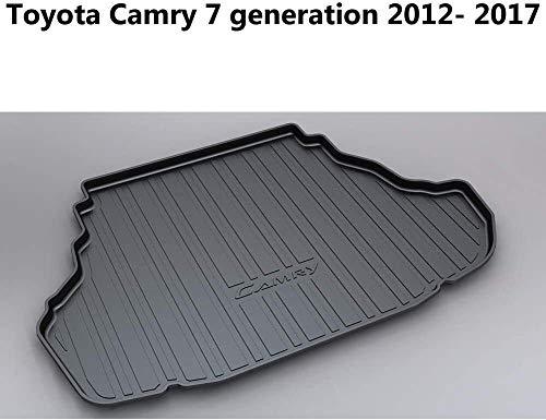 QIANSHI Trunk mat Super11Six Trunk Mat Cargo Tray Liner- Custom Tailored for To-yota Camry 7 generation 2012-2017, 1Pcs,Black,Colour:Black Rear luggage cushion (Color : Black)
