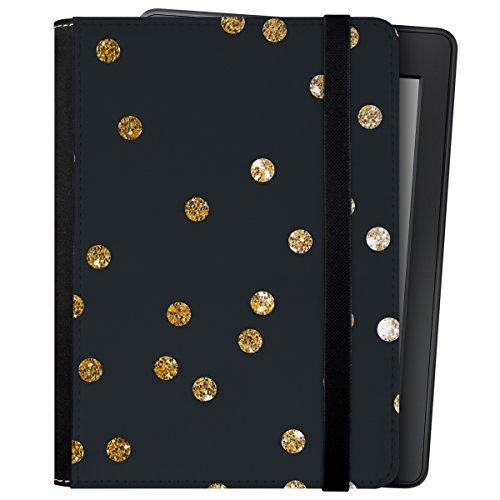 caseable Kindle und Kindle Paperwhite Hülle, Gold Dots