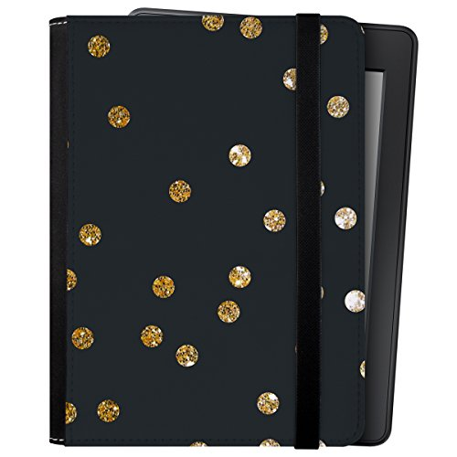 caseable Kindle und Kindle Paperwhite Hülle, Gold Dots