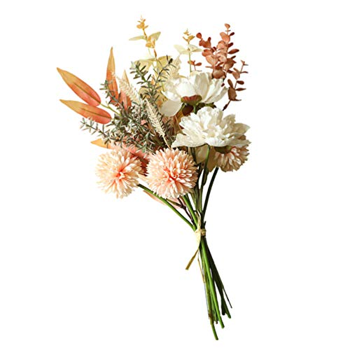 ABOOFAN Flores Artificiales de Seda Diente de León Ramo de Imitación Flores Ramo de Boda Centros de Mesa Arreglos Florales Decoraciones