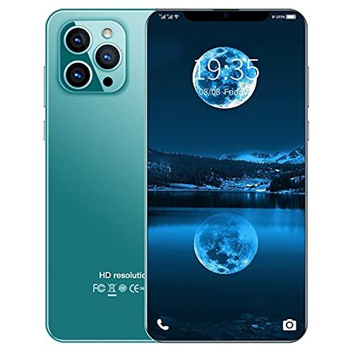 Unlocked Smartphones, 4G Dual sim Unlocked Cell Phones, 2021 New I12 Pro Max 6.8inch 3-Camera Android 4G RAM + 32G ROM, Water Drop Screen, 4800mAh high Capacity Battery, Face ID (Army Green)