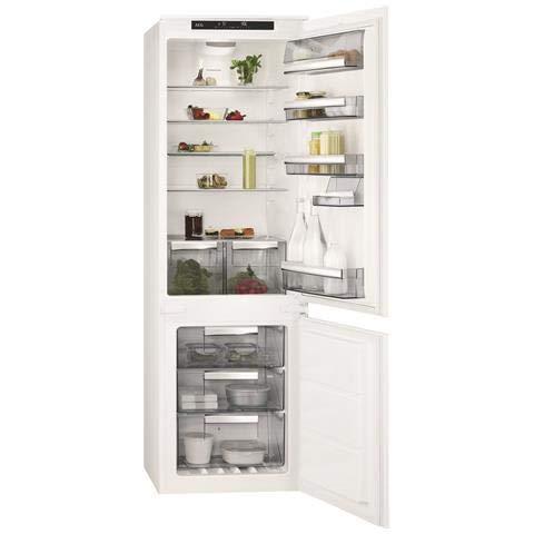 AEG scb81826ts eingebaut L A + + Weiß Kühlschrank Kühl-Gefrierschrank–eingebaut, weiß, rechts, Berührung, LCD, R600A)