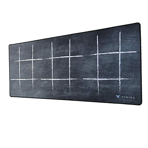 TYNIKA Extended Gaming Mouse Pad (35.4x15.7Inches) - XXL Mousepad with Anti Fray Stitched Edges & Non-Slip Rubber Base - Desk Pad Protector / Waterproof Mouse Mat for Work & Gaming, Black - ###