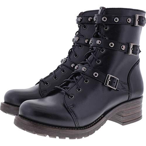 Brako / Modell: Military Pull/Negro Schwarz Leder/Stiefel/Art: 8463 / Damen Stiefeletten Größe 40 EU