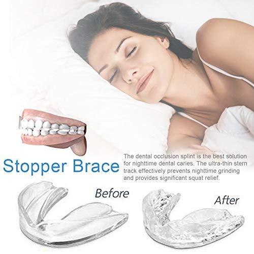 AITOCO Premium Bite Splint Verbessertes Konzept - Neuartige Knirschschiene für das Zähneknirschen - Bissschutz für die Zähne bei Nacht Inkl