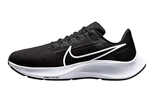 Nike Damen Air Zoom Pegasus 38 Laufschuh, Black/White-Anthracite-Volt, 40.5 EU