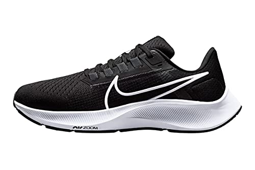 Nike Air Zoom Pegasus 38, Zapatillas para Correr Mujer, Black/White-Anthracite-Volt, EU