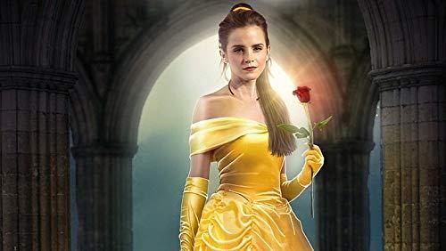 Póster de Emma Watson de la Bella y la Bestia de la Bella y la Bestia de Emma Watson (30,5 x 45,7 cm), multicolor