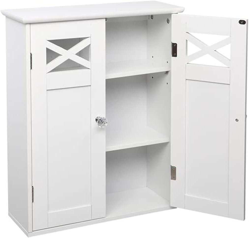 超特価SALE開催 Bathroom Wall 大幅値下げランキング Cabinet Double Door Cupboard Fork Type Medicine