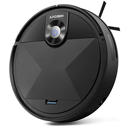 Robot Vacuum, APOSEN Robot Vacuum Cleaner A200, Self-Charging, Smart Move Path, 360° Smart Sensor Protection, Long Life Battery, Robotic Vacuum Best for Pet Hairs, Hard Floor, Low Pile Carpet etc.