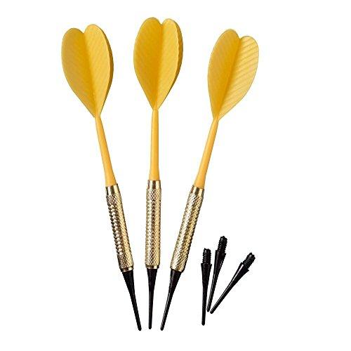 Best Sporting Safety Dartpfeile, 3 Stück à 7 g, Messing, unterschiedliche Farben, Farbe:gelb