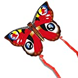 Xu Yuan Jia-Accessoires Para Cometas Butterfly Breeze Easy Flying Kite Niño Principiante al Aire Libre Entre Padres e Hijos Fitness Peacock Butterfly Kite 60 Metros (Color : Red)
