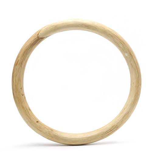 ruiruiNIE Kung Fu Cinese Wing Chun Hoop Wood Rattan Ring Sticky Hand Strength Training - Colore del Legno