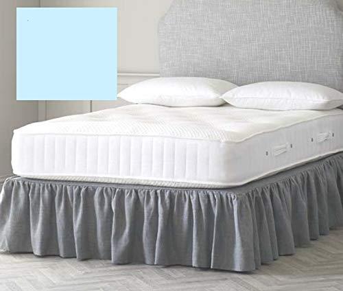 Euro IKEA - Sábana bajera para cama tamaño king (160 x 198 cm), color azul