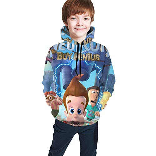 maichengxuan Jimmy Neutron 3 Novelty Youth Hoodie Sweatshirts Lovely for Teens Black