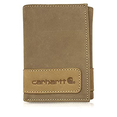 Carhartt Men's Trifold Wallet, Two Tone Brown, One Size