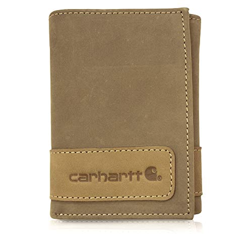 Carhartt Men's Standard Trifold Wallet, Two-Tone - Brown, One Size