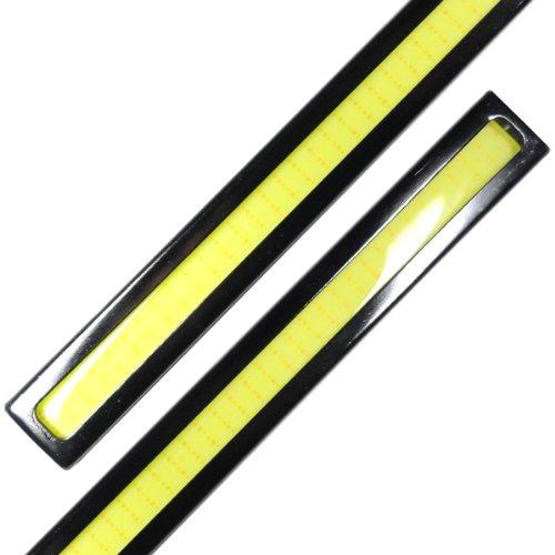 『【ノーブランド品】薄さ4ミリ 12W 完全防水 強力 ムラ無し 全面発光 LED デイライト バーライト パネルライト イルミ』のトップ画像