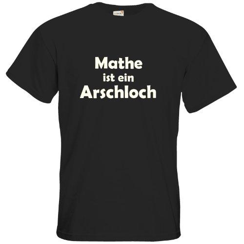 getshirts - Best of - T-Shirt - Fun - Mathe ist EIN Arschloch - Black M