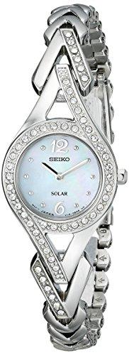 "Seiko Women's SUP173 ""Jewelry-Solar Classic"" Silver-Tone Stainless Steel Watch"