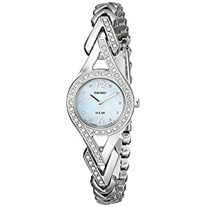 "Seiko Women's SUP173 ""Jewelry-Solar Classic"" Silver-Tone Stainless Steel Watch"