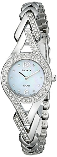 "Seiko Women's ""Jewelry-Solar Classic"" Silver-Tone Stainless Steel Watch -$129.98(53% Off)"