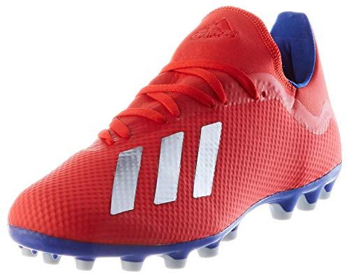 adidas Herren X 18.3 Ag Fußballschuhe, Active Red / Silver Met. / Bold Blue, 41 1/3 EU