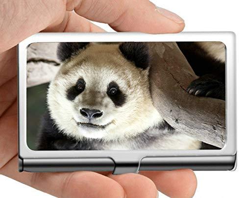 Business Name Card Holder Wallet,Holder Wildlife Giant Panda Business Card Holder Business Card Case (Stainless Steel)