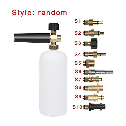 DGdolph Espuma Lanza Lavadora a presión Pistola de jabón Botella para Karcher Bosch Lavor Nilfisk Kit Blanco S10