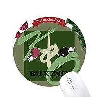 中国ボクシング クリスマスツリーの滑り止めゴム形のマウスパッド