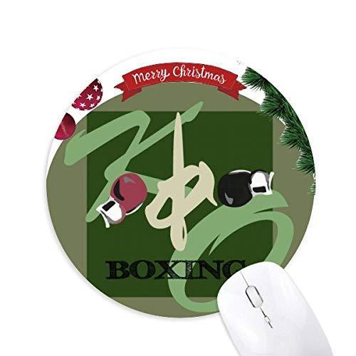 China Gym Boxing KO Rund Gummi Maus Pad Weihnachtsbaum Mat