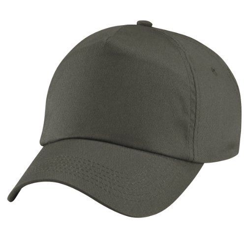 Beechfield Unisex Plain Original 5 Panel Baseball Cap (Pack of 2) (One Size) (Olive)