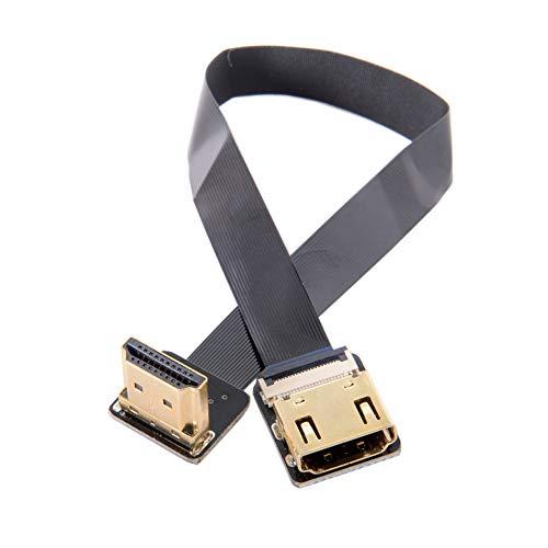 LYXMY HDMI-Kabel FPV-Adapter flach GH-Geschwindigkeitstransfer HD TV DIY Konverter Standard Stecker auf Buchse Mini Verlängerung Antenne Fotografie Stecker