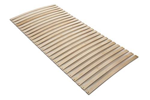 MaDeRa Natura Federleisten Rollrost, extrem stabil, aus Birkenschichtholz auch für Wohnmobile Größe 140x200