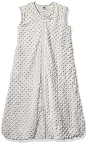 Hudson Baby Unisex Baby Plush Sleeping Bag, Sack, Blanket, Light Gray Dot Mink, 18-24 Months