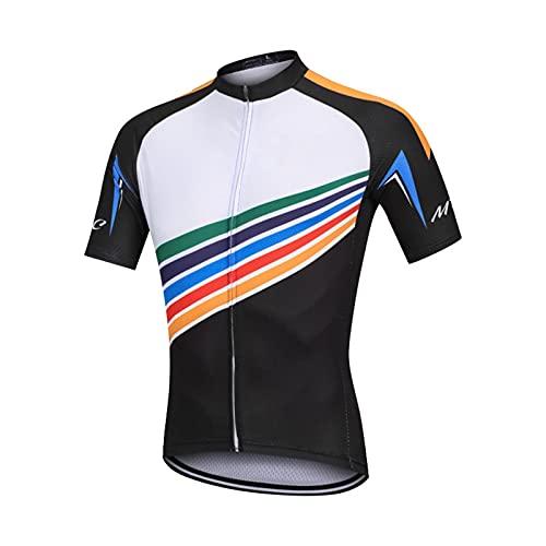 NAXIAOTIAO Sistema De Correa De Ciclismo De Ciclismo De Ciclismo De Ciclismo, Sol Transpirable Camiseta Humedad Talla De Ciclismo Jersey Traje,XXL