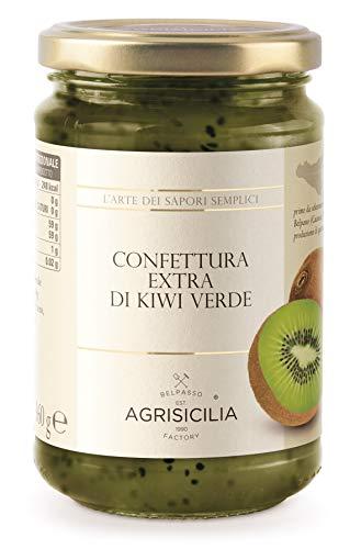 Agrisicilia Confettura Extra di Kiwi Verde, 360 Grammi