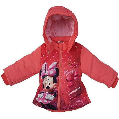 Disney Minnie Mouse Kinderjacke für den Winter/Winterjacke Mantel Parka/lang Longjacke Jacke für Baby/Mädchen gefüttert mit Kapuze – tolles Geschenk zur Geburt/Weihnachten - pink (12 Monate)