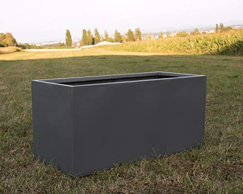 Elegant Einrichten Pflanztrog Pflanzkübel anthrazit metallic 120x50x55cm