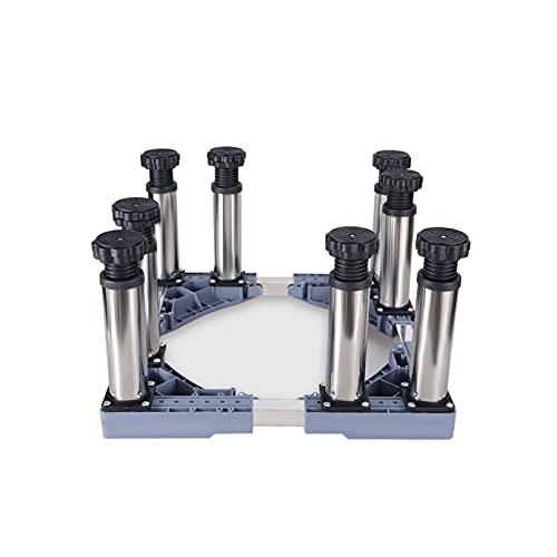 Soporte para Lavadora con 8/12 Pies Base para Frigorífico Ajustable Largo/Ancho 47-67cm vinotecas lavavajillas Pedestal acondicionador de Aire Soporte Altura 20-23cm Carga 300Kg (20-23cm,8 Leg