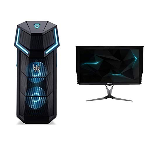 "Acer Predator X27 Monitor Gaming G-Sync da 27"", Display IPS 4K Ultra HD (3840x2160), 144 Hz, Luminosità 600 (1000 Peak) cd/m2, Tempo di risposta 4ms, HDMI, DP, USB 3.0 Hub, Audio Out, Nero"
